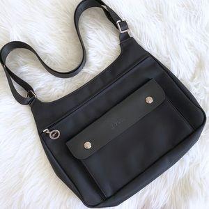 Longchamp Black Nylon Crossbody Bag